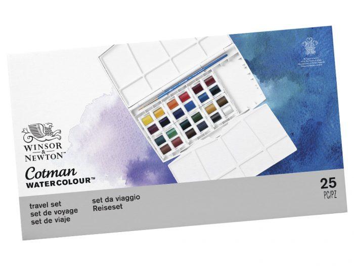 Akvarelinių dažų kubelių 1/2 rinkinys Cotman Painting PLUS