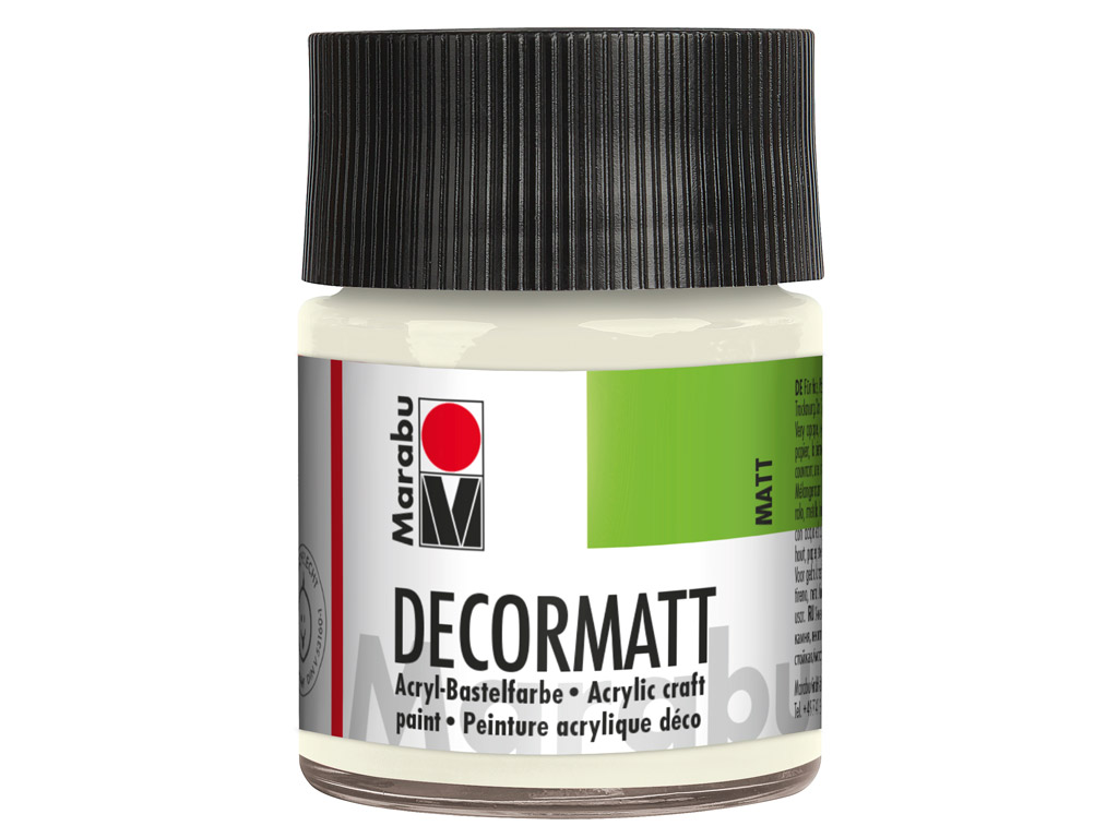 Dekoorvärv Decormatt 50ml 070 white