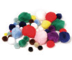 Pūkuoti kamuoliukai Rayher įvairių spalvų ir dydžių 100vnt.