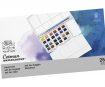 Akvareliniai dažai Cotman Painting Plus 24x1/2 kubelių+teptukas plastikinė dėžutė
