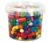Wooden beads various colours 4-16mm 400g