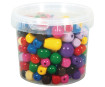 Wooden beads various colours 16-25mm 350g