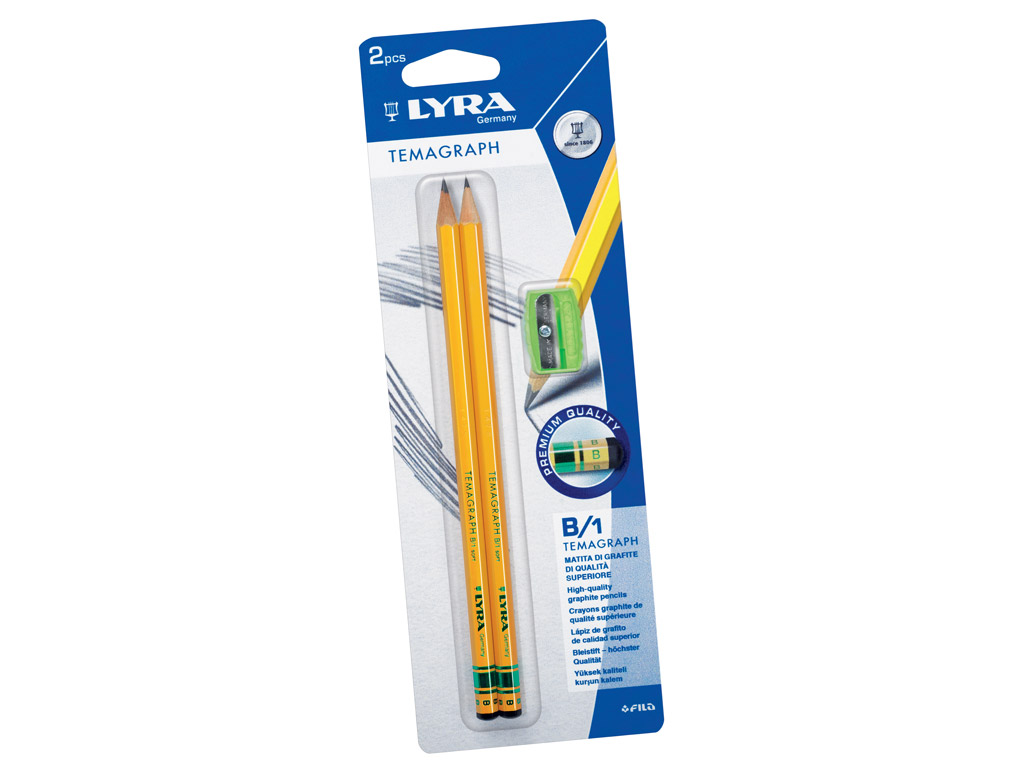 Graphite Pencil Lyra Temagraph 2xB on blister