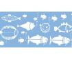Šablonas Marabu 15x33cm Fish Family