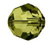 Krištolinis karoliukas Swarovski apvalus 5000 6mm 7vnt. 228 olive