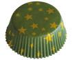 Muffinivorm 50x25mm kuldsed jõulud roheline 60tk blistril