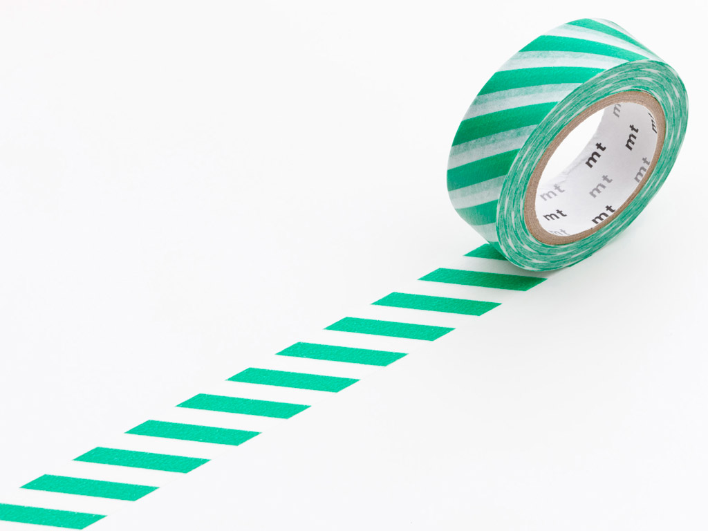 Washi teip mt 1P deco 15mmx10m stripe green