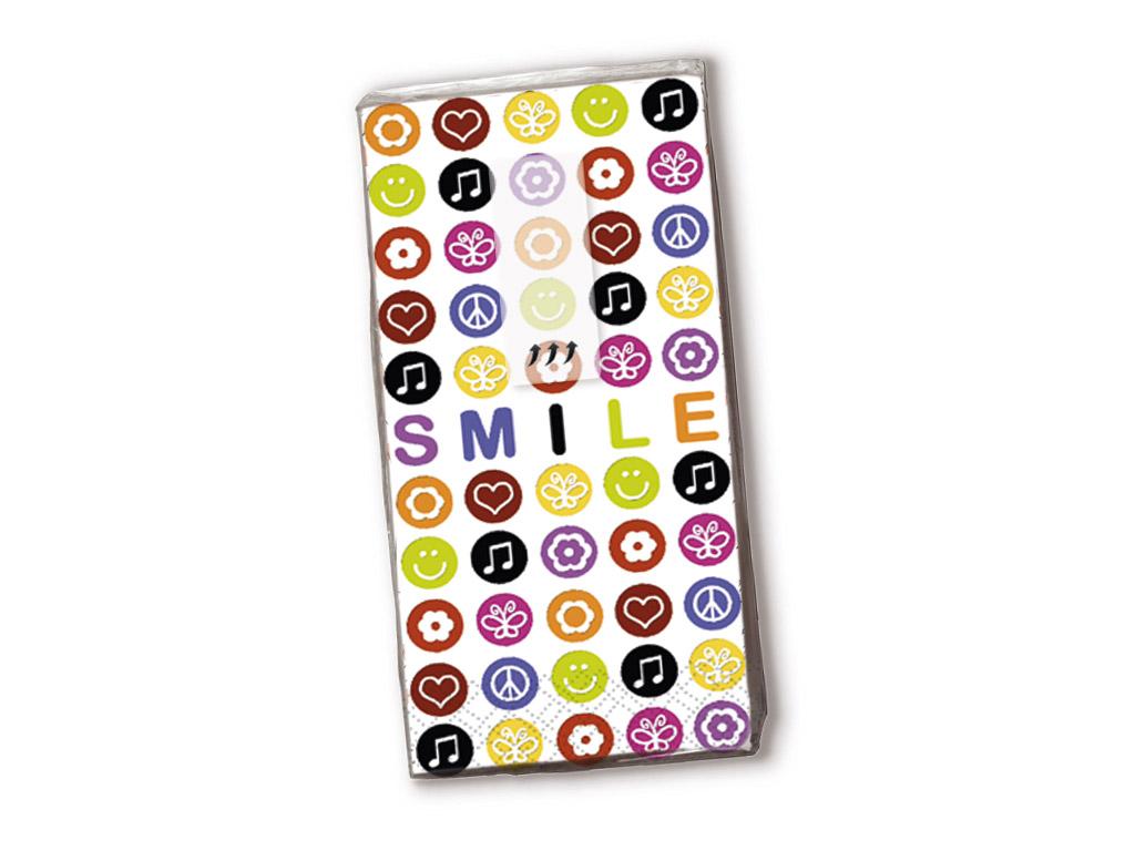 Popierinės nosinės 10vnt. 4 sluoksnių Smile