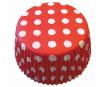 Keksiukų forma 50x25mm taškeliai raudona-balta 60vnt. blister.