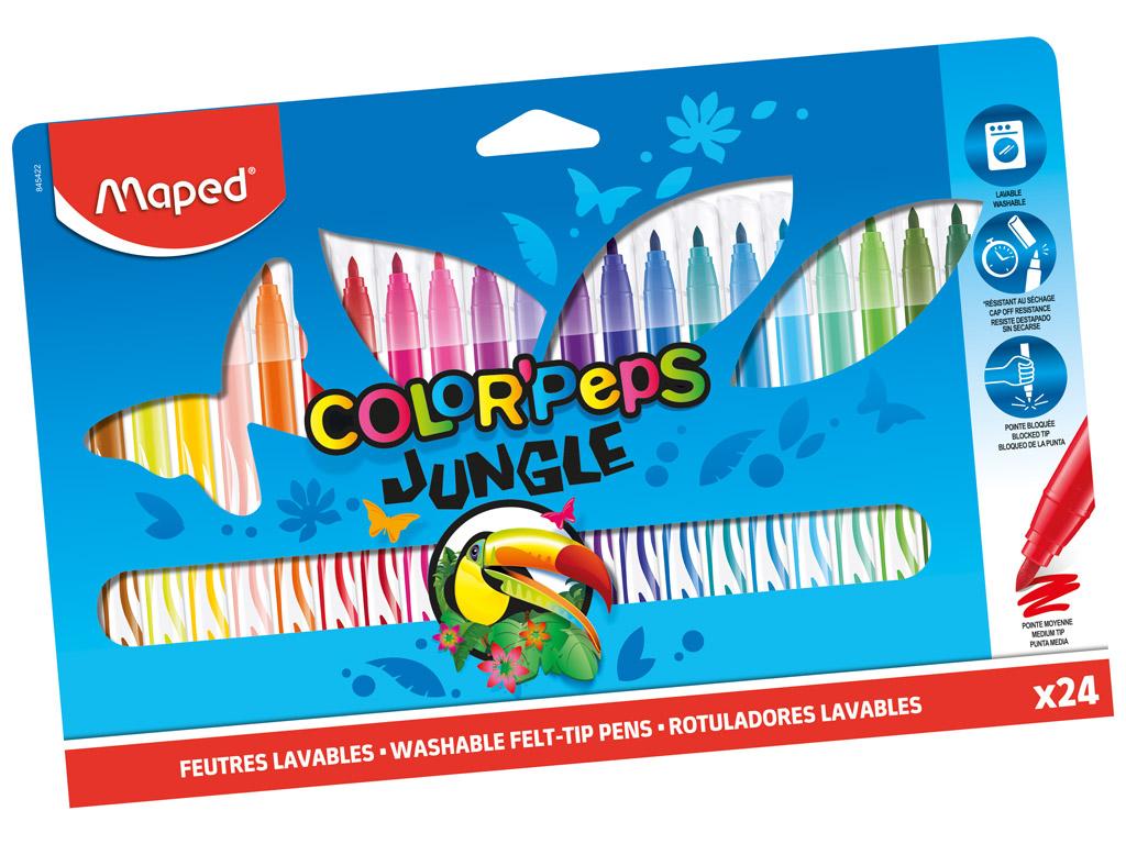 Flomasteris ColorPeps Jungle 24vnt.