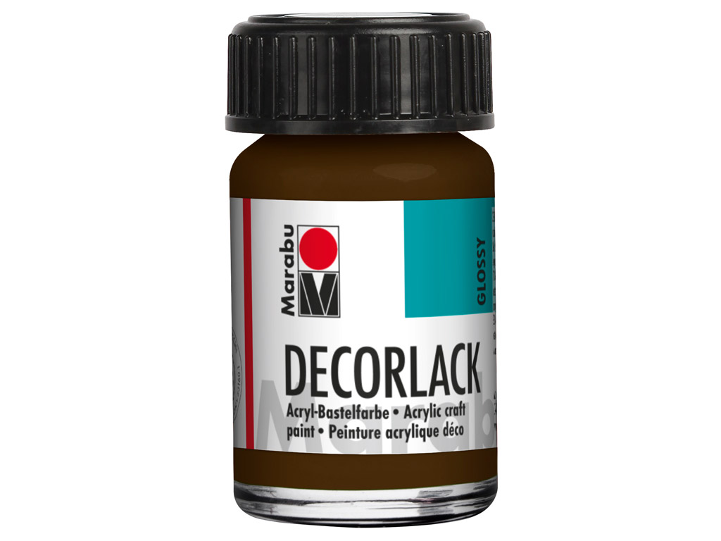 Dekoorvärv Decorlack 15ml 045 dark brown