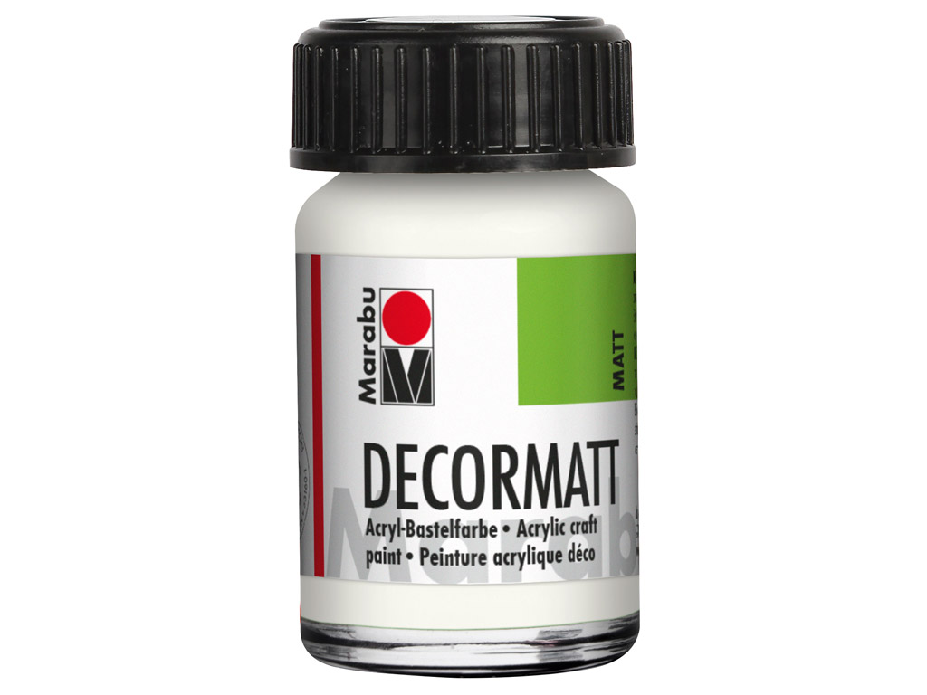 Dekoorvärv Decormatt 15ml 070 white