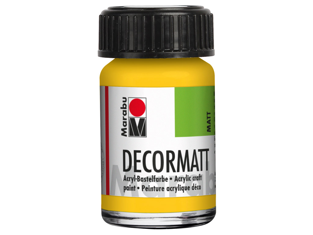 Dekoorvärv Decormatt 15ml 021 medium yellow
