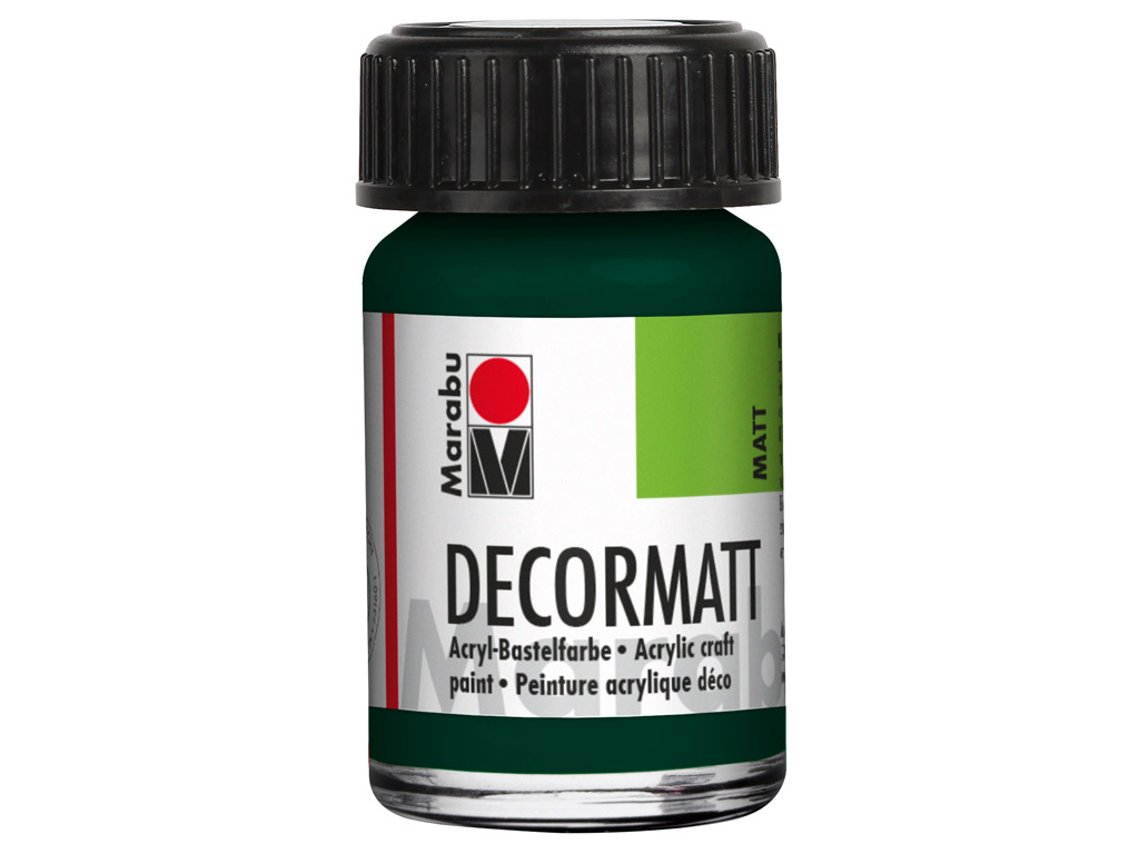 Dekoorvärv Decormatt 15ml 075 pine green