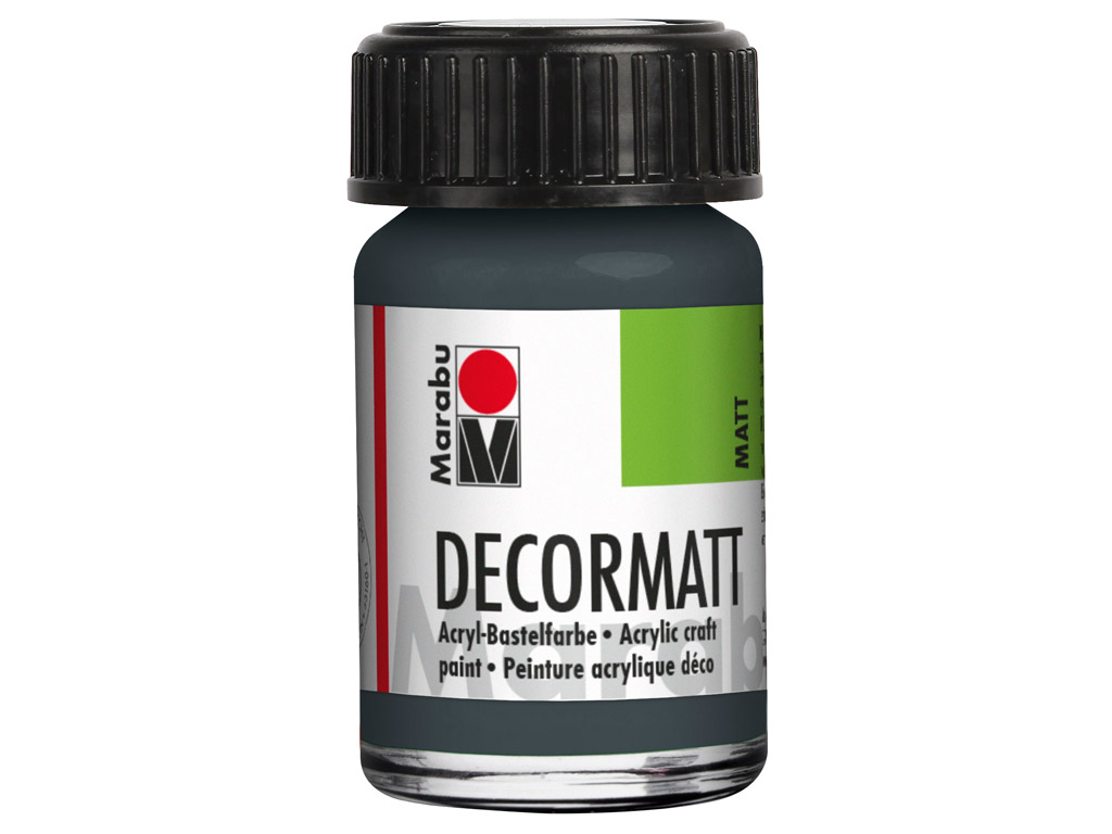 Dekoorvärv Decormatt 15ml 079 dark grey
