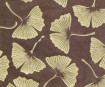 Nepaali paber A4 Big Gingko Leaves Gold on Brown