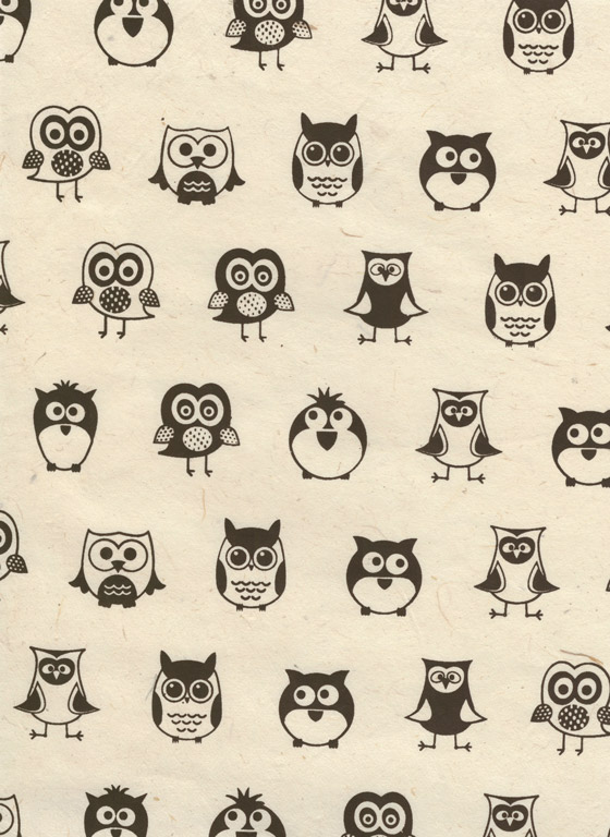 Nepaali paber A4 Owl Black on Natural