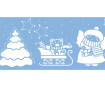 Šablonas Marabu 15x33cm Christmas Night