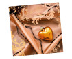 Servetėlės 33x33cm 20vnt. 3 sluoksnių Heart of gold