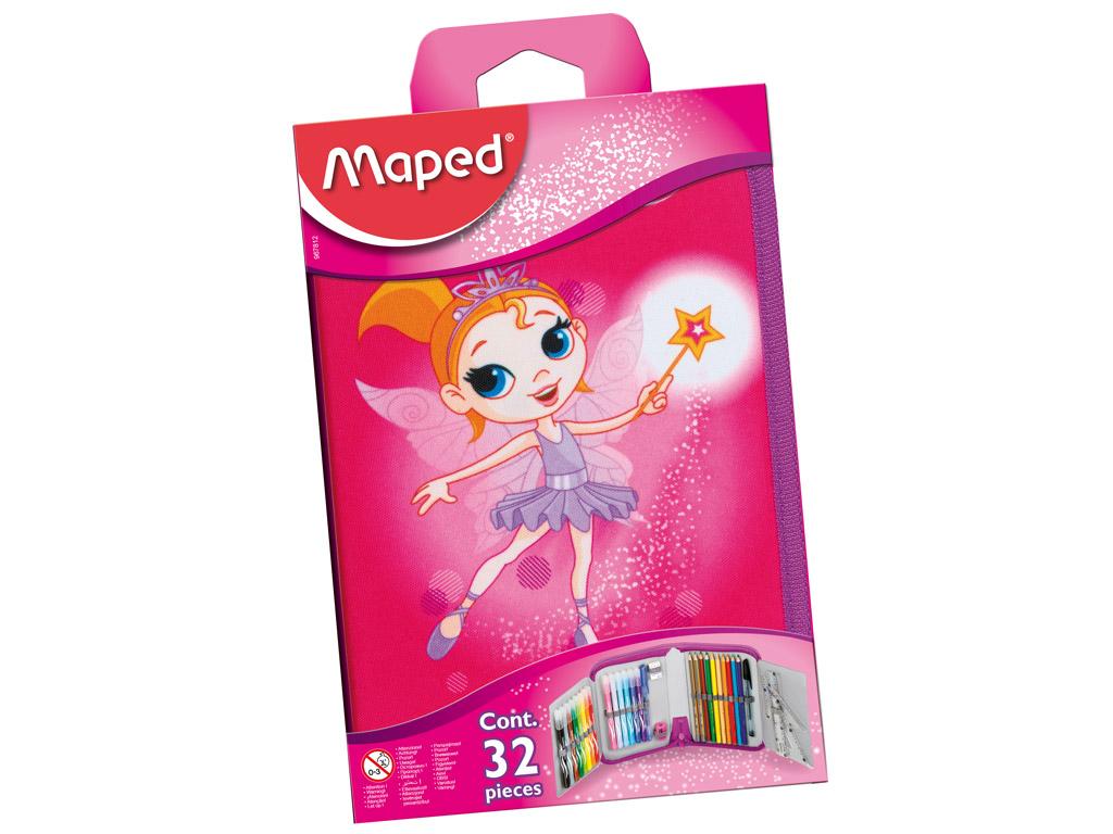 Penalas Maped su 1 užtrauktuku pilnas Fairy blister.
