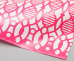 Pakkepaber 3120mino 500x700mm forest printed in pink