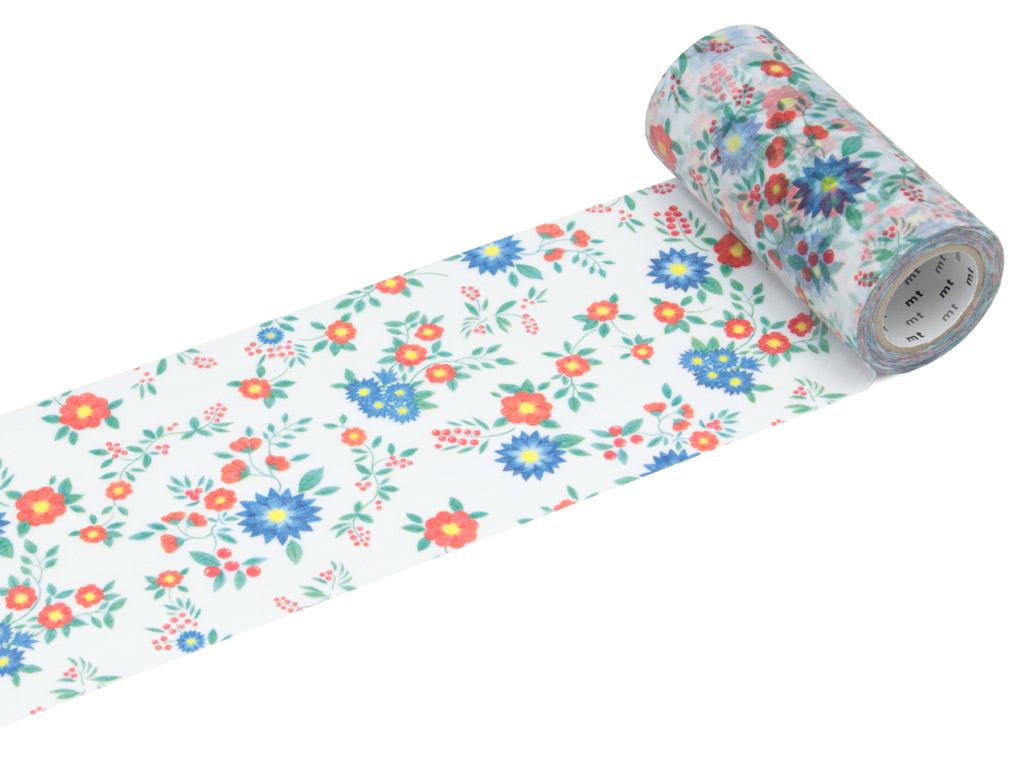 Washi dekoratyvi lipni juostelė mt casa shade 100mmx10m flower S