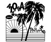 Šablonas Marabu Silhouette 30x30cm Aloha Paradise