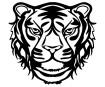 Šablonas Marabu Silhouette 30x30cm Wild Tiger