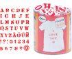Spaudas Aladine Stampo Textile 45vnt. Alphabet + pagalvėlė antspaudams juoda