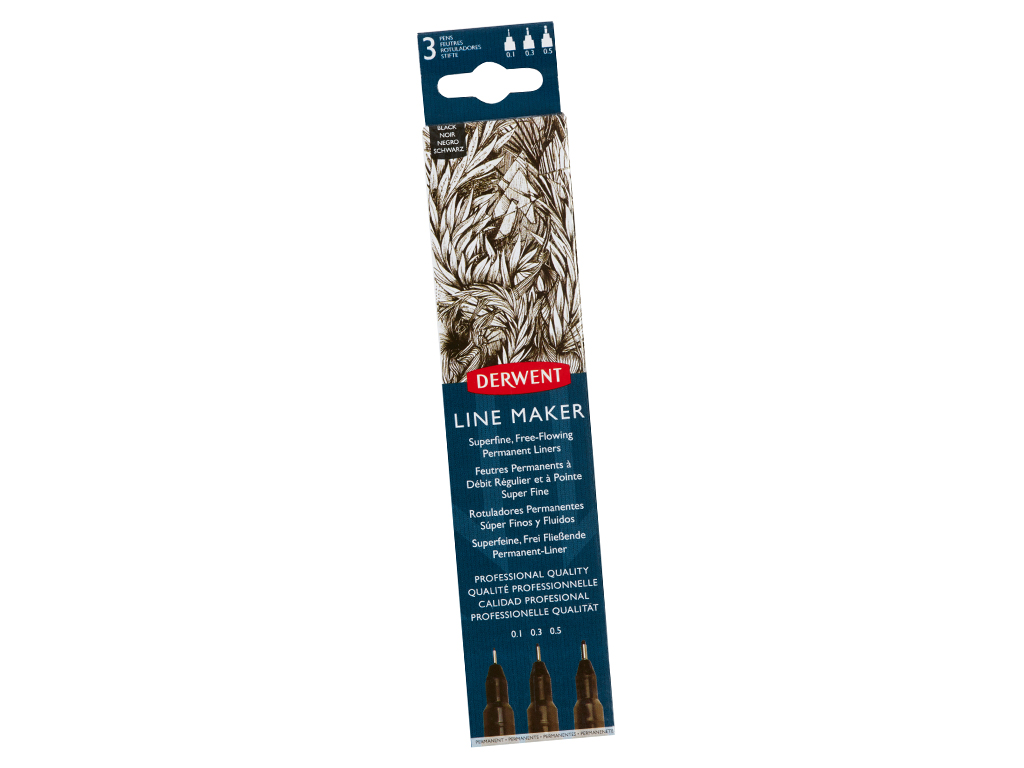 Tušinukas fineliner Graphik Line Maker 3vnt. (0.1/0.3/0.5) juoda