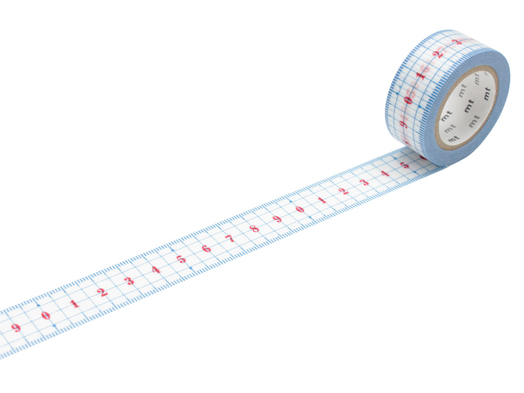 Washi teip mt ex 20mmx10m ruler