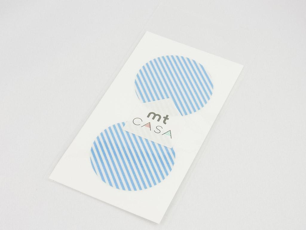 Kleebis mt casa seal d=50mm 10tk stripe light blue