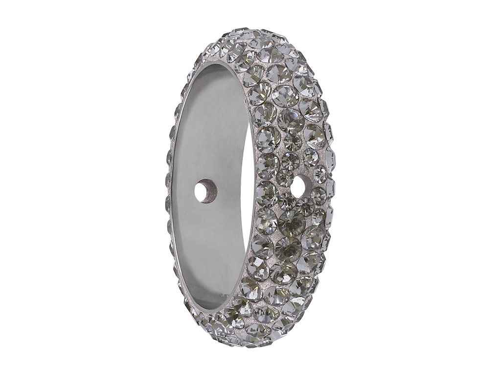 Crystal Bead Swarovski Becharmed Pave Ring 85001 16 5mm