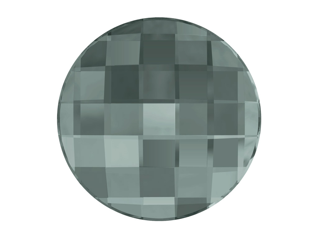 Crystal fancy stone Swarovski Flat Back No Hotfix round chessboard 2035 10mm 215 black diamond