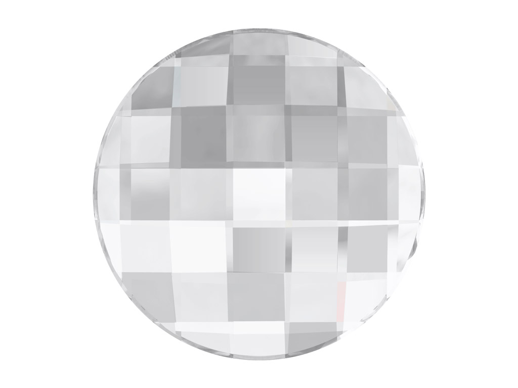 Crystal fancy stone Swarovski Flat Back No Hotfix round chessboard 2035 10mm 001 crystal