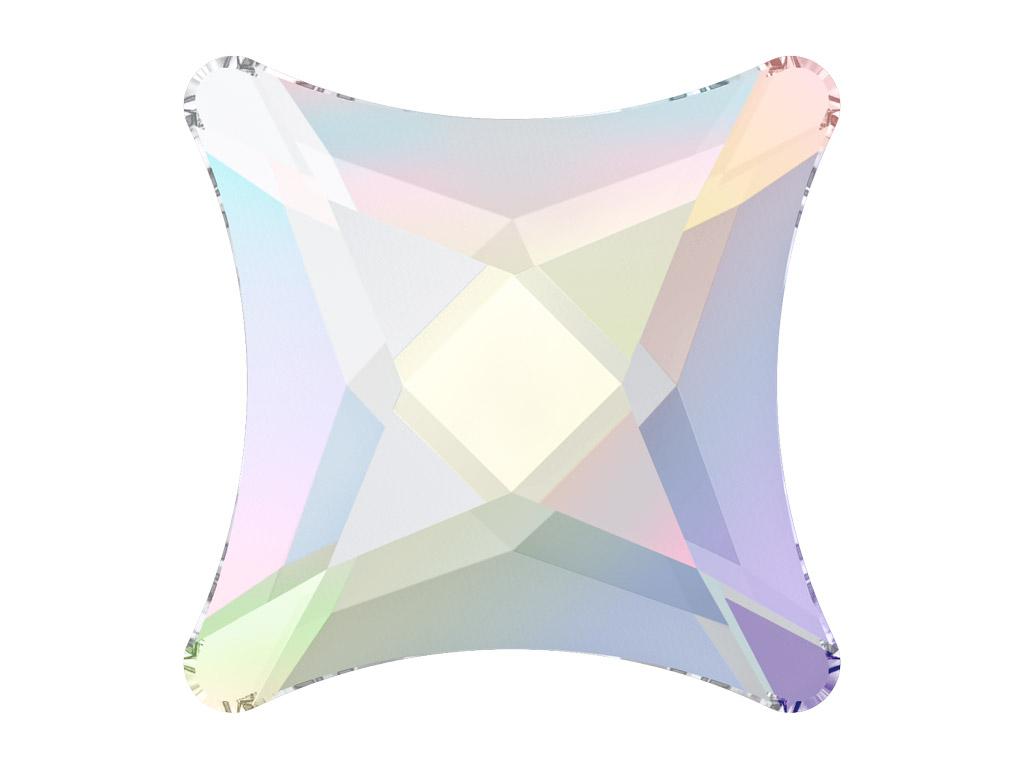 Krištolas Swarovski Flat Back No Hotfix žvaigždutė 2494 8mm 001AB crystal aurore boreale