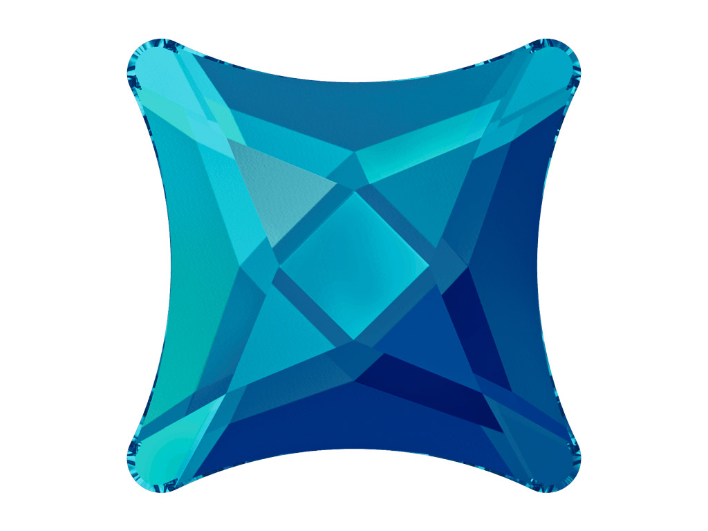 Kristallkivi Swarovski Flat Back No Hotfix täheke 2494 8mm 001BBL crystal bermuda blue