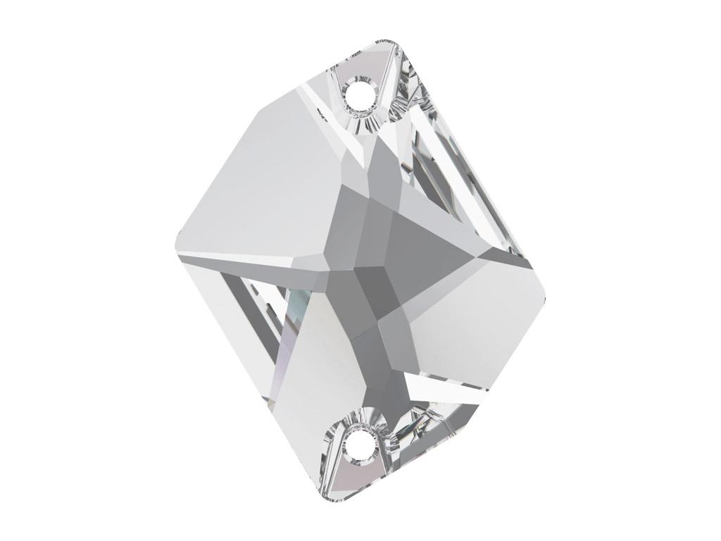 Krištolo karoliukai siuvinėjimui Swarovski cosmic 3265 26x21mm 001 crystal