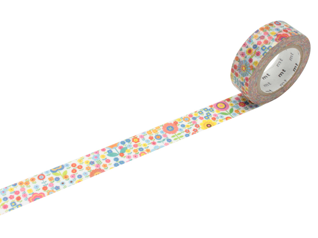 Washi teip mt ex 15mmx10m mini flower garden