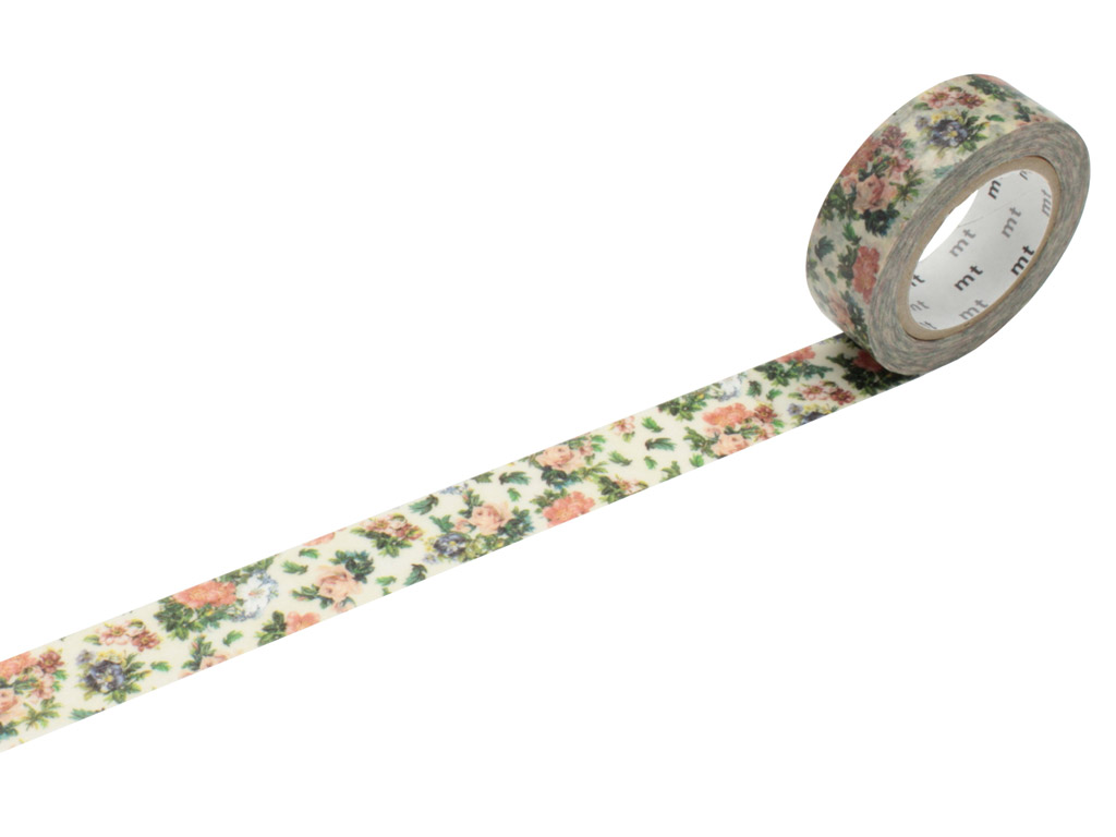 Washi teip mt ex 15mmx10m mini flower botanical art