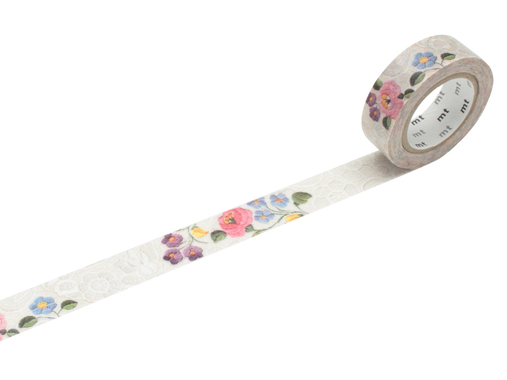 Washi dekoratyvi lipni juostelė mt ex 15mmx10m lace/kalocsa