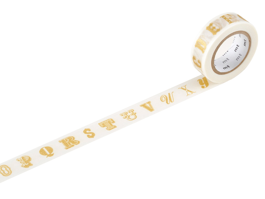 Washi teip mt ex 15mmx10m alphabet gold R
