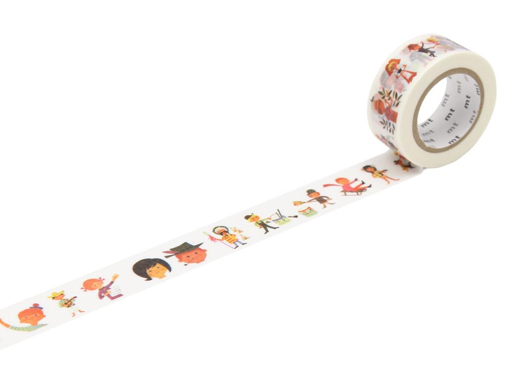 Washi dekoratyvi lipni juostelė mt Alain Gree 20mmx10m human