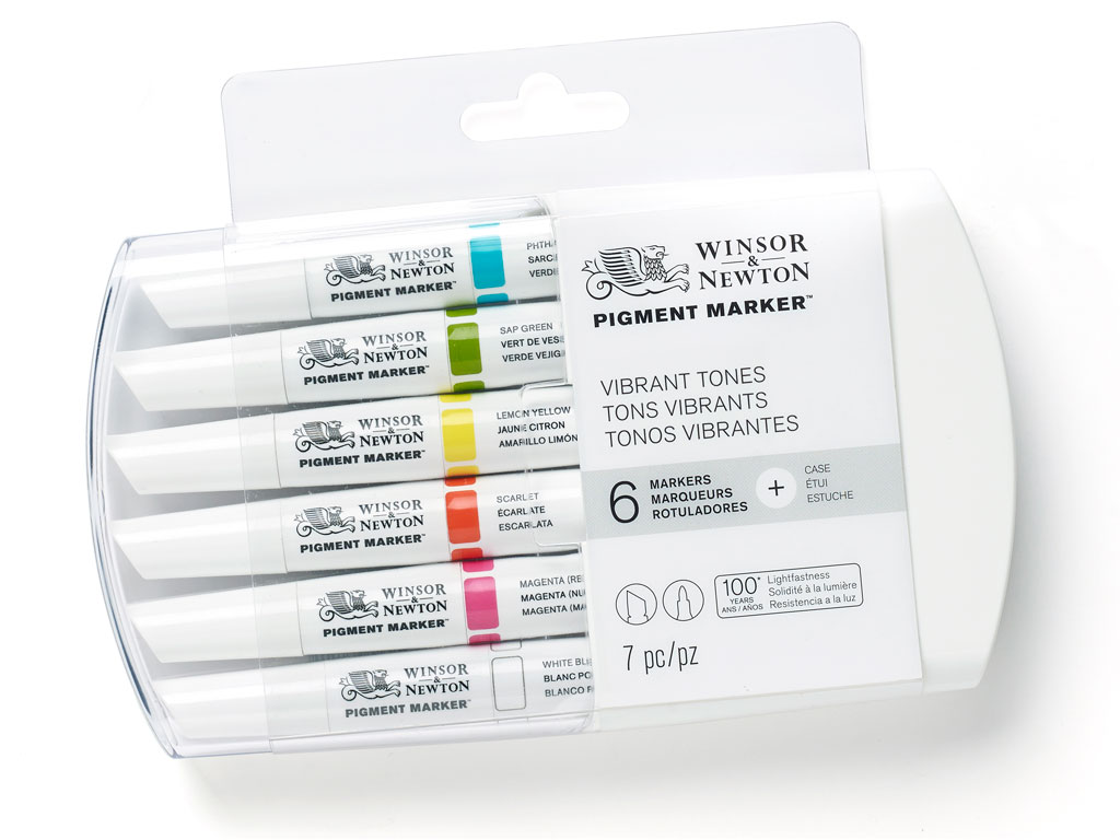 Marker W&N Pigment 6tk vibrant tones