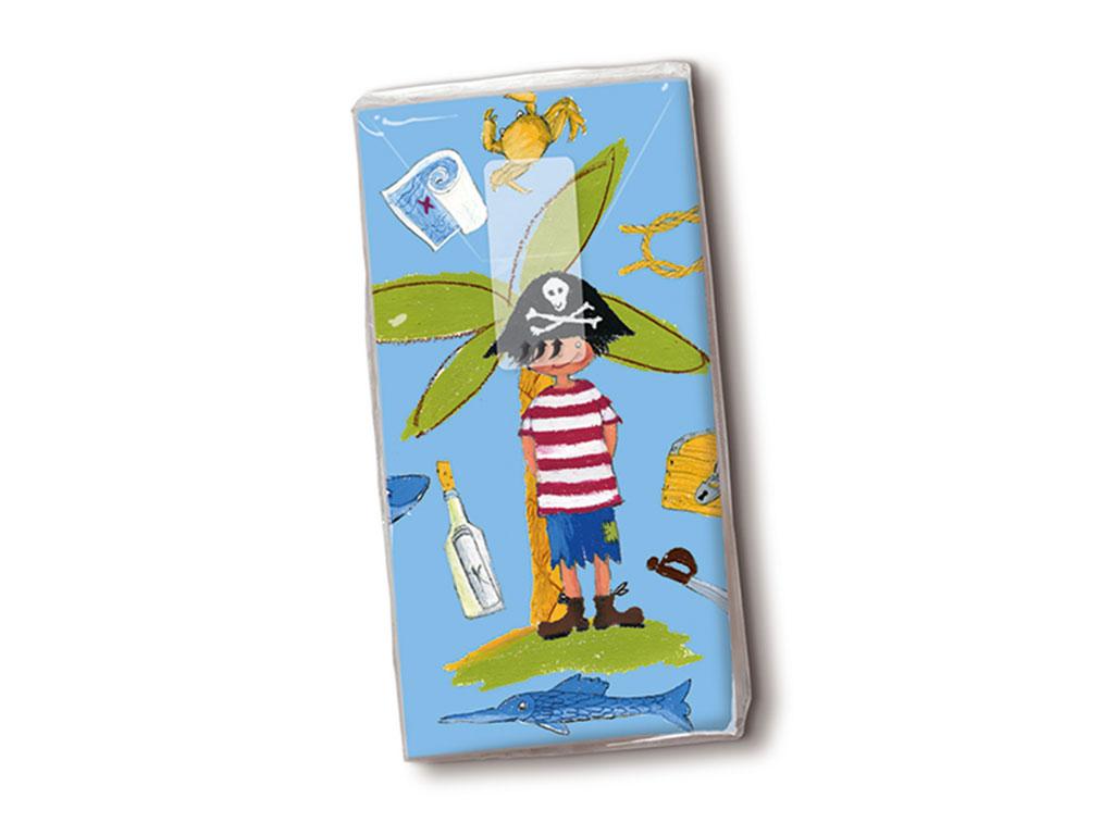 Popierinės nosinės 10vnt. 4 sluoksnių Little Pirate