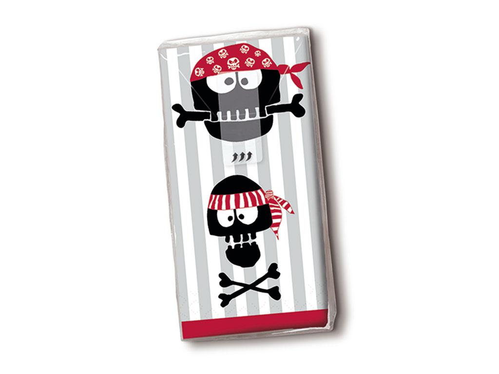 Popierinės nosinės 10vnt. 4 sluoksnių Pirates Ahoi