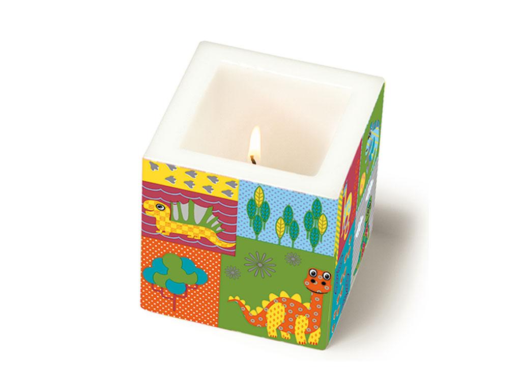Žvakė 8x8x8cm Dino World