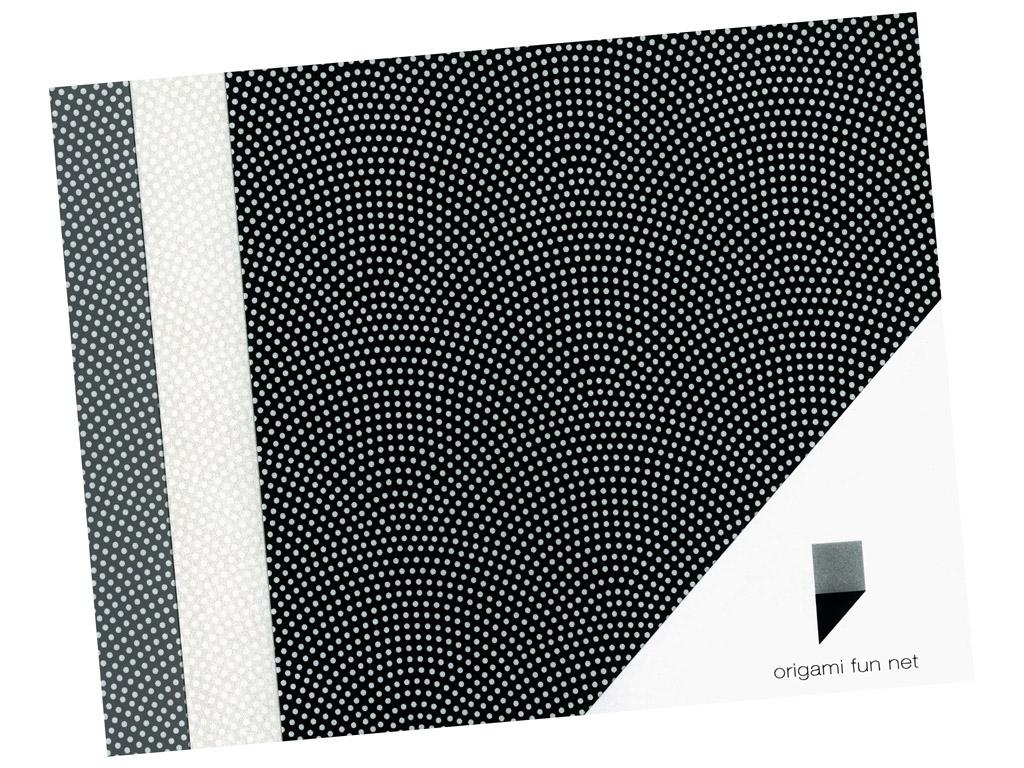 Washi paber Origami Fun Net 15x15cm 3x3tk same komon-sharkskin