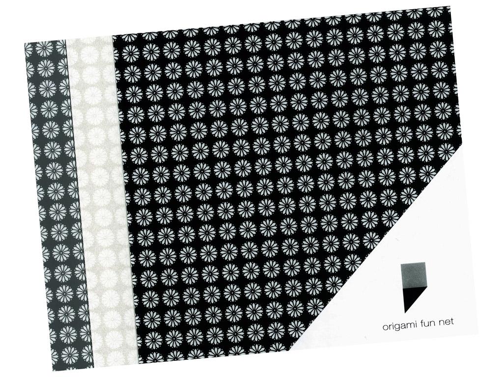 Washi paber Origami Fun Net 15x15cm 3x3tk kiku koman-cheysanthemum