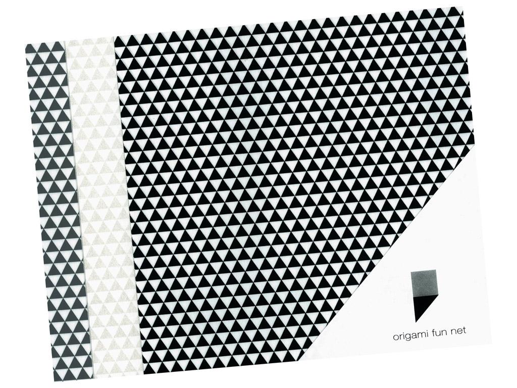 Washi paper Origami Fun Net 15x15cm 3x3pcs uroko mon-triangles